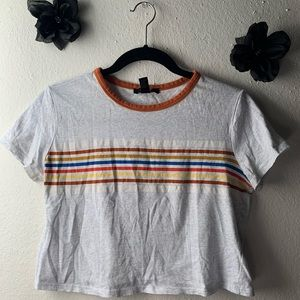 Striped cropped t-shirt